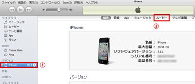 iPhoneに動画を取り込む